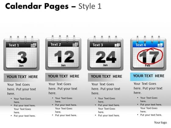 PowerPoint Template Calendar 17 Teamwork Ppt Design Slides