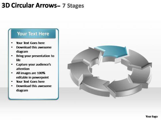 PowerPoint Template Chart Circular Arrows Ppt Presentation