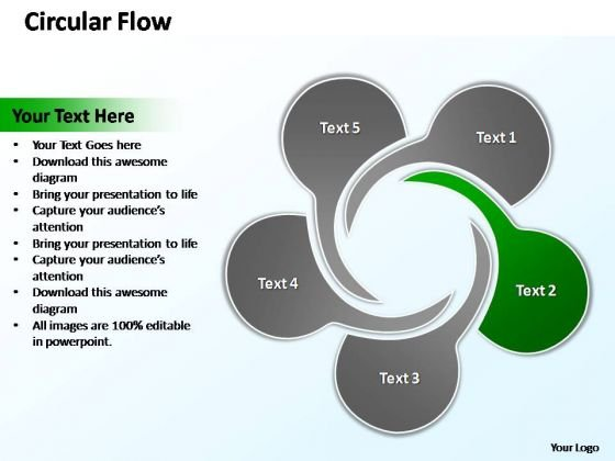 powerpoint template chart circular flow ppt slide powerpoint templates
