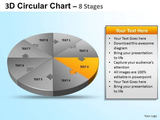PowerPoint Template Chart Circular Ppt Theme