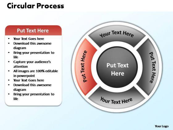 PowerPoint Template Chart Circular Process Ppt Template