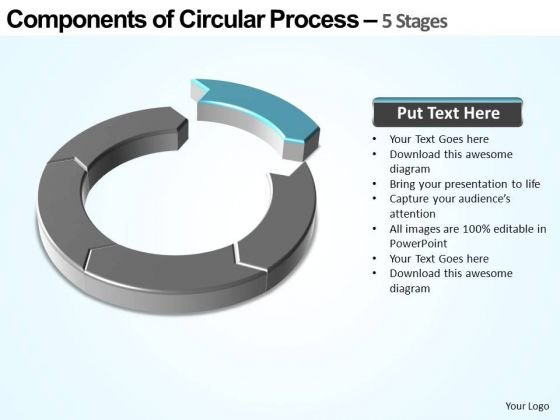 PowerPoint Template Chart Components Of Circular Ppt Presentation