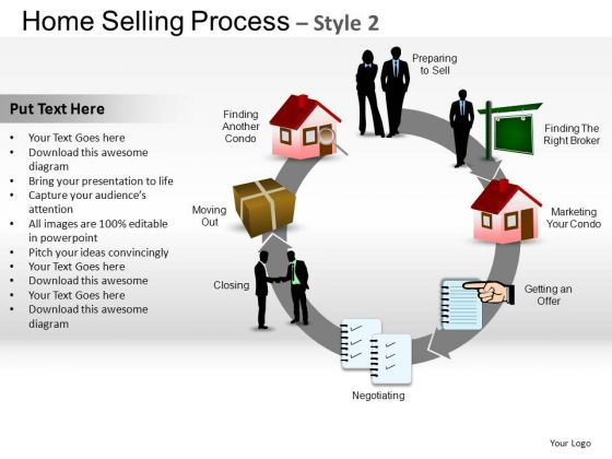 PowerPoint Template Chart Home Selling Ppt Design