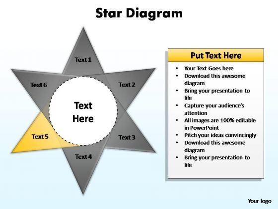 PowerPoint Template Chart Star Diagram Ppt Slide