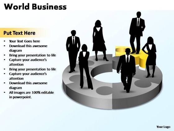 PowerPoint Template Chart World Business Ppt Slides
