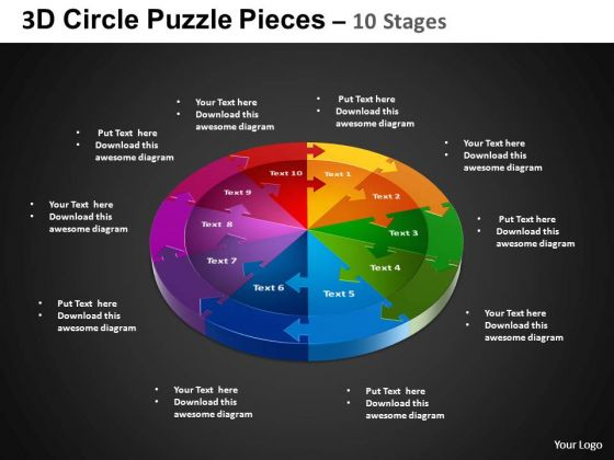 PowerPoint Template Circle Chart Circle Puzzle Diagram Ppt Layout
