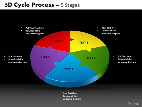 PowerPoint Template Circle Chart Cycle Process Ppt Designs