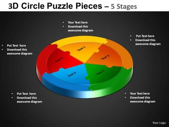 PowerPoint Template Circle Process Circle Puzzle Diagram Ppt Slidelayout