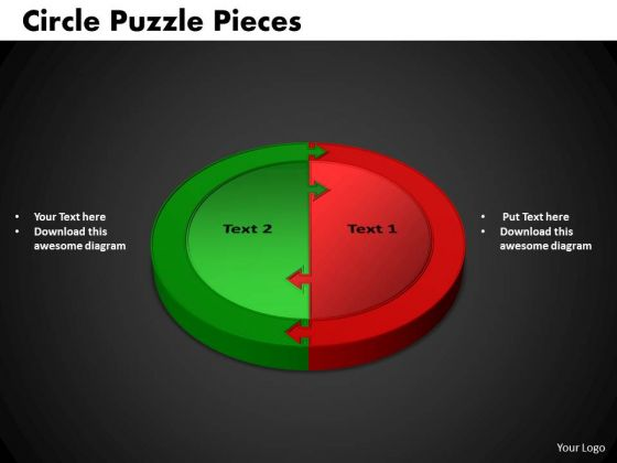 PowerPoint Template Circle Puzzle Business Ppt Backgrounds