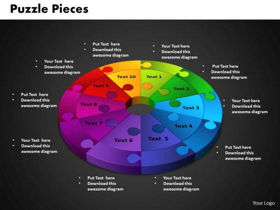 PowerPoint Template Circle Puzzle Diagram Ppt Designs