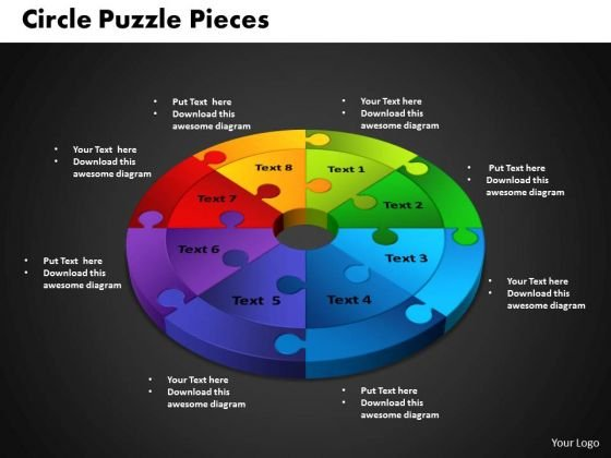PowerPoint Template Circle Puzzle Diagram Ppt Themes