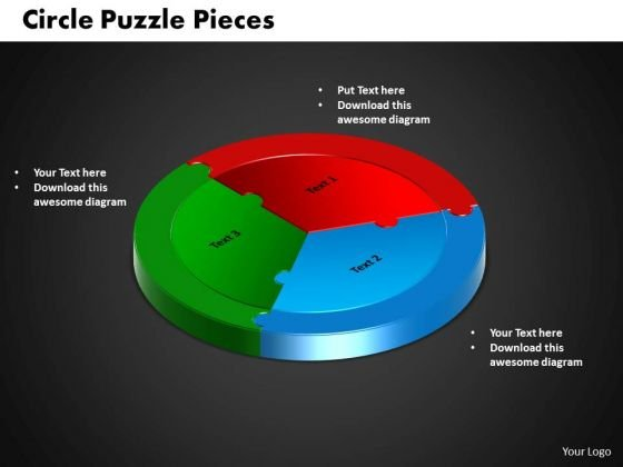 PowerPoint Template Circle Puzzle Download Ppt Presentation