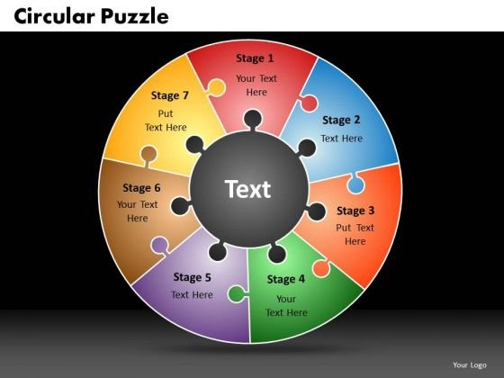 PowerPoint Template Circular Puzzle Business Ppt Presentation