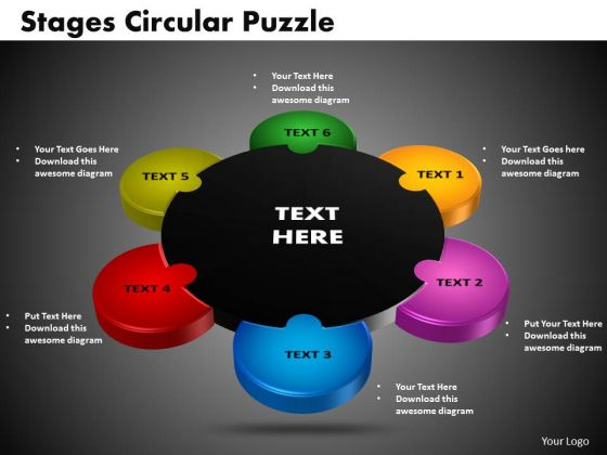 PowerPoint Template Circular Puzzle Pieces Business Ppt Slide Designs