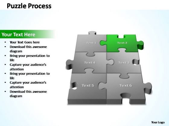 PowerPoint Template Company 3d Puzzle Process Ppt Slides