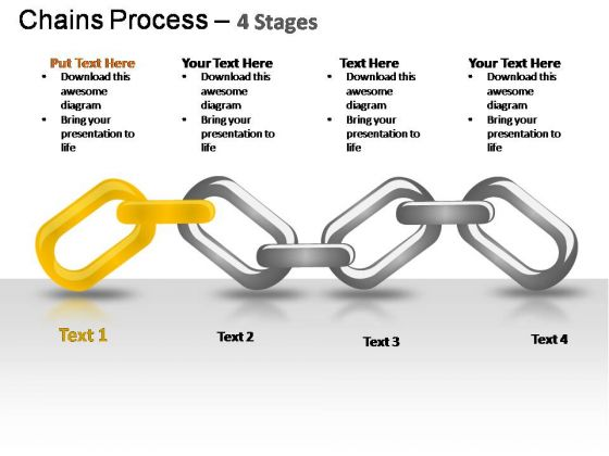 PowerPoint Template Company Chains Process Ppt Designs