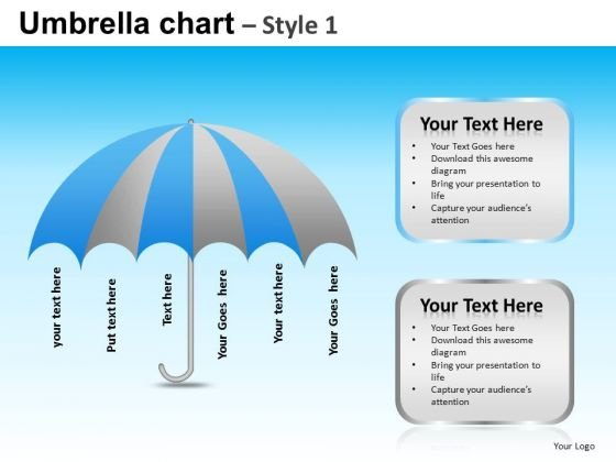PowerPoint Template Company Competition Mission Umbrella Chart Ppt Themes