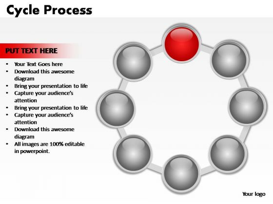 PowerPoint Template Company Cycle Process Ppt Slides