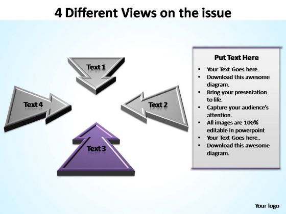 PowerPoint Template Company Different Views Ppt Slide