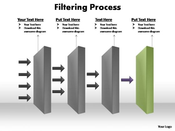 PowerPoint Template Company Filtering Process Ppt Template
