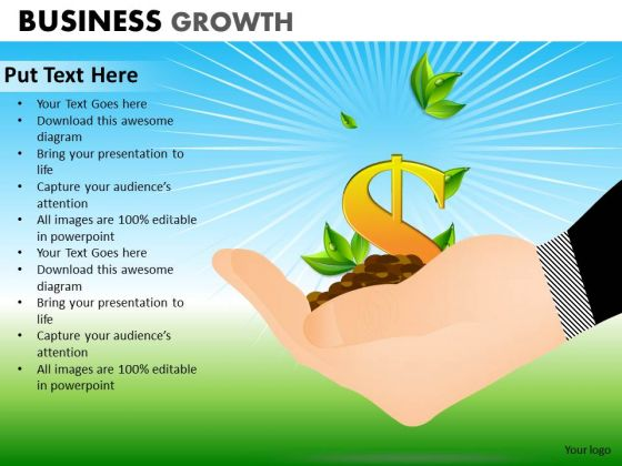 PowerPoint Template Company Growth Business Growth Ppt Theme