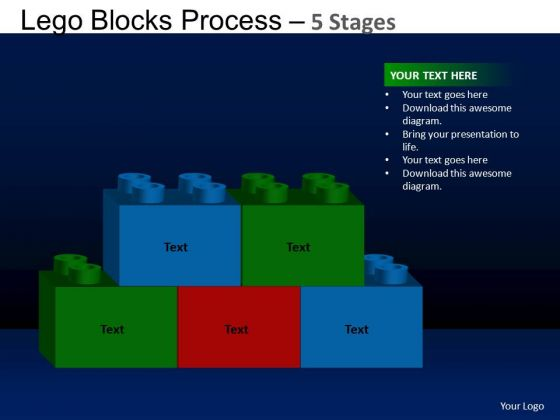 PowerPoint Template Company Lego Blocks Ppt Design