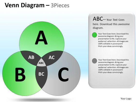 PowerPoint Template Company Success Targets Venn Cycle Diagram Ppt Slides