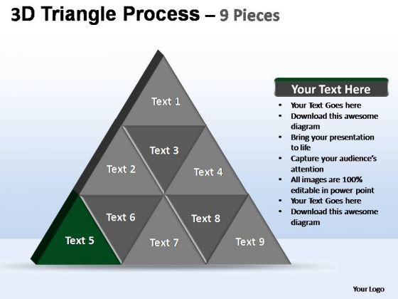 PowerPoint Template Company Triangle Process Ppt Design Slides
