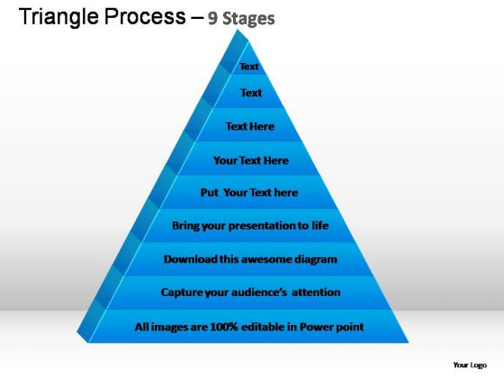PowerPoint Template Company Triangle Process Ppt Slides