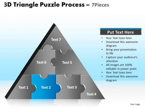 PowerPoint Template Company Triangle Puzzle Ppt Slide Designs