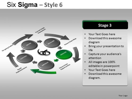 PowerPoint Template Corporate Competition Six Sigma Ppt Design