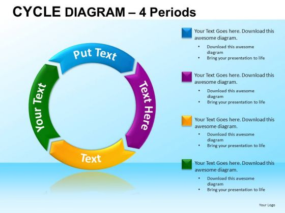 PowerPoint Template Corporate Strategy Cycle Diagram Ppt Theme