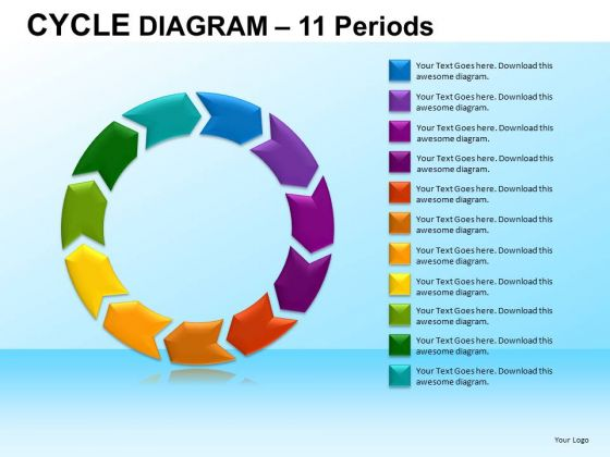 PowerPoint Template Corporate Success Cycle Diagram Ppt Backgrounds