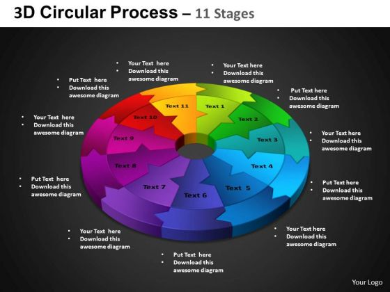 PowerPoint Template Cycle Chart Circular Process Ppt Slide