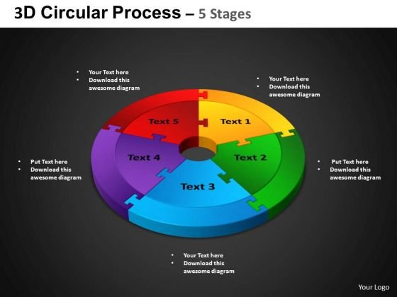 PowerPoint Template Cycle Process Circular Process Ppt Slidelayout