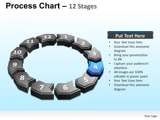 PowerPoint Template Cyclical Process Ppt Presentation