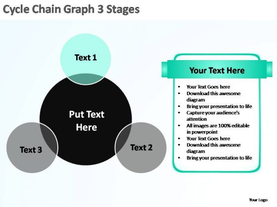 PowerPoint Template Diagram Chain Ppt Design