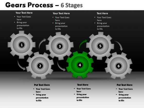 PowerPoint Template Diagram Gears Process Ppt Design