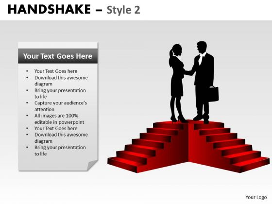 PowerPoint Template Diagram Handshake Ppt Presentation