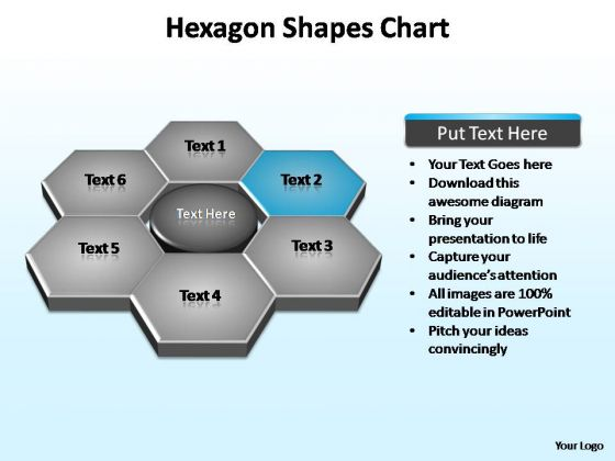 PowerPoint Template Diagram Hexagon Shapes Ppt Design
