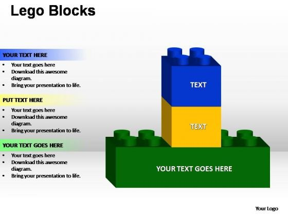 PowerPoint Template Diagram Lego Ppt Design