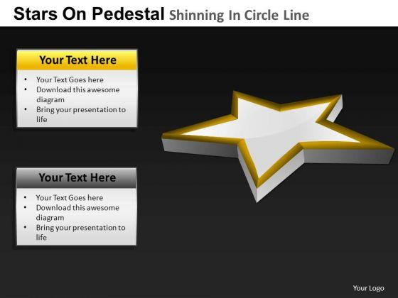 PowerPoint Template Diagram Pedestal Shinning Ppt Slides