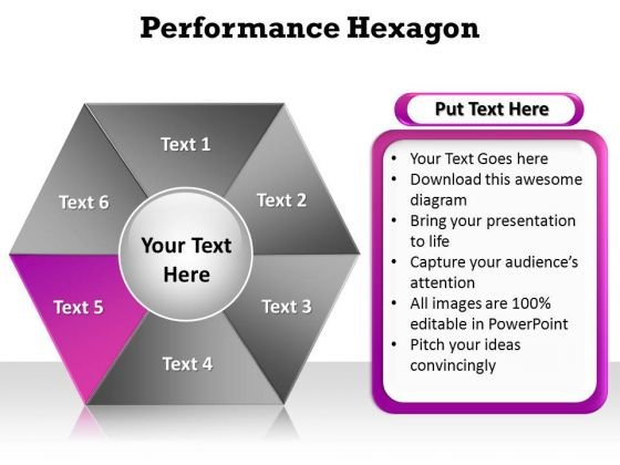 PowerPoint Template Diagram Performance Pentagon Ppt Theme