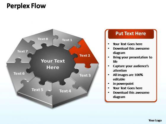 PowerPoint Template Diagram Perplex Flow Ppt Design