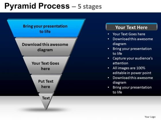PowerPoint Template Diagram Pyramid Process Ppt Designs