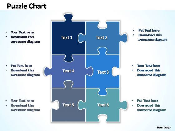 Powerpoint Template Diagram Rectangular Jigsaw Puzzle Ppt Design
