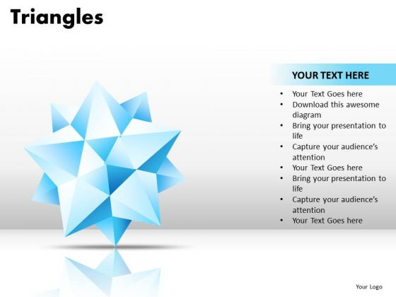 PowerPoint Template Diagram Triangles Ppt Design