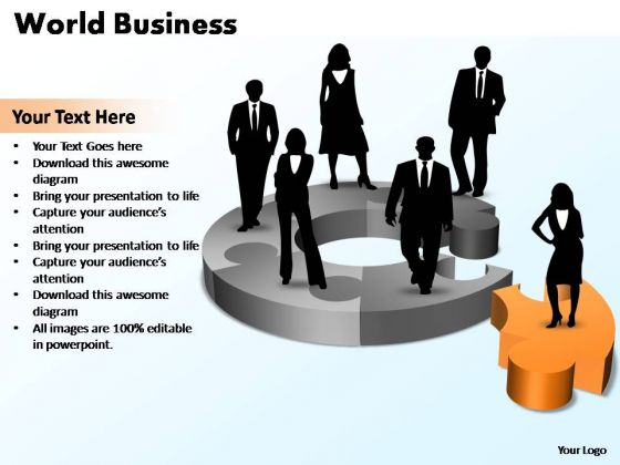 PowerPoint Template Diagram World Business Ppt Slides