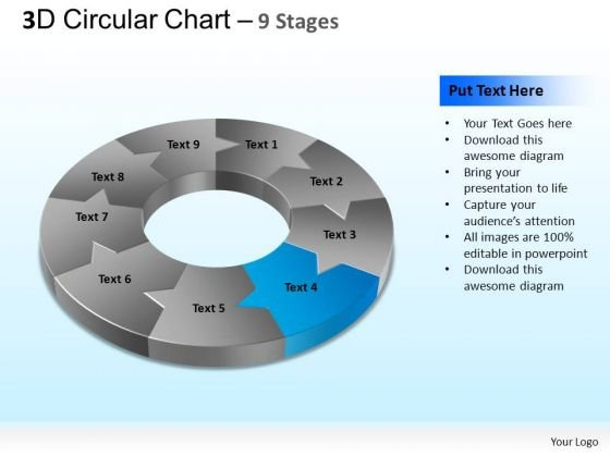PowerPoint Template Download Circular Chart Ppt Theme