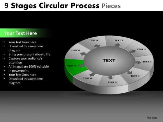 PowerPoint Template Download Circular Process Ppt Slide